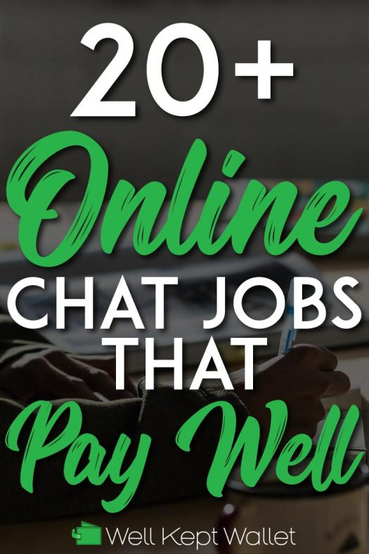 Chat jobs that pay well pinterest pin
