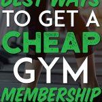 Best ways to get a cheap gym membership pinterest pin