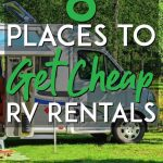 Where to get cheap RV Rentals pinterest pin