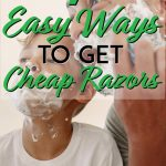 Easy ways to get razors for cheap pinterest pin