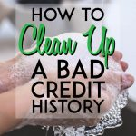 how to clean up a bad credit history pinterest pin