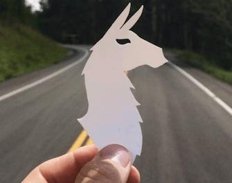 cotopaxi llama sticker example