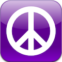 Craigslist App Icon Purple with peace sign