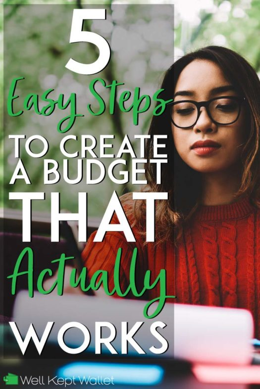 how to create a budget that actually works pinterest pin