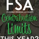 FSA Contribution limits for this year pinterest pin
