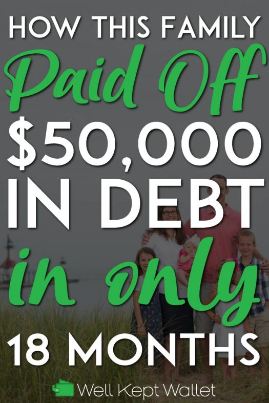 Family paid off debt pinterest pin