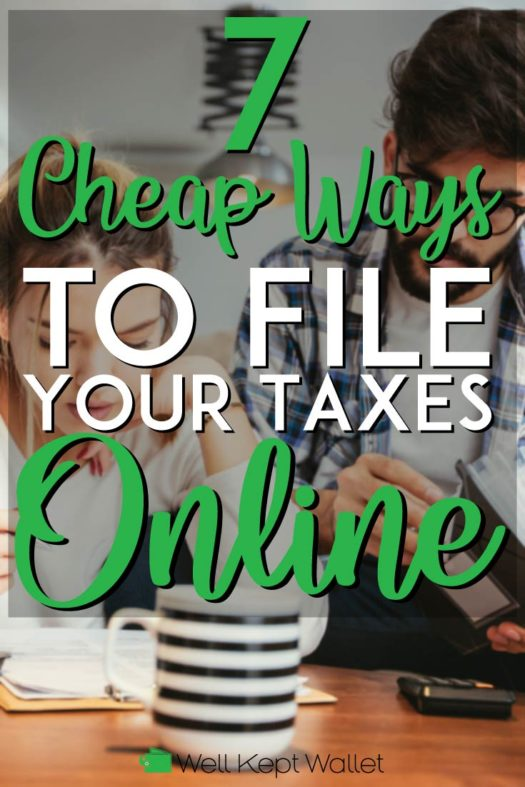 Cheap ways to file your taxes online pinterest pin