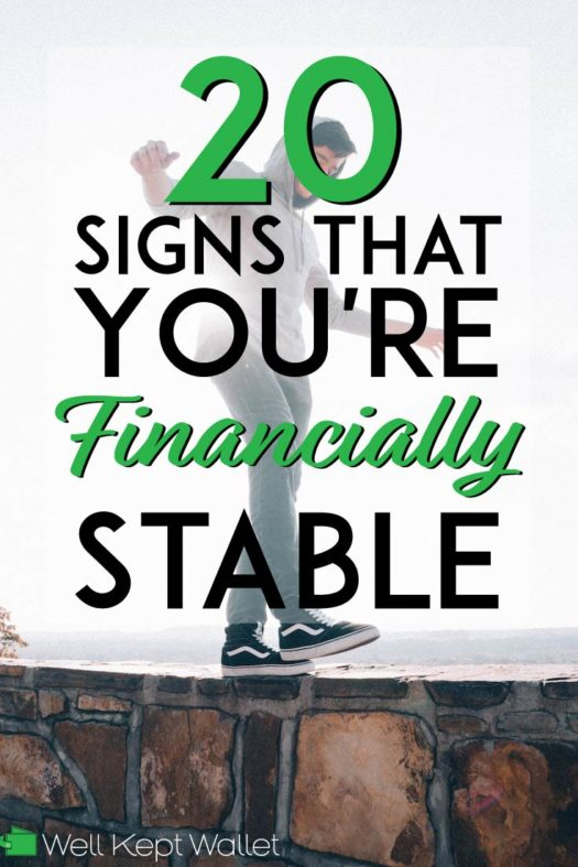 20 signs that you're financially stable pinterest pin
