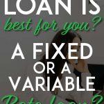 Fixed vs variable rate loan pinterest pin