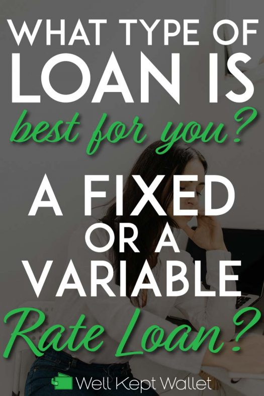 Fixed vs variable rate loan pinterest pin