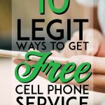 legit ways to get free cell phone service pinterest pin