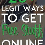 Legit ways to get free stuff online pinterest pin