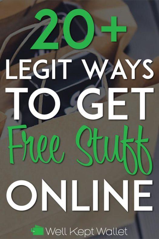Legit ways to get free stuff online pinterest pin