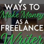 Ways to make money as a freelance writer pinterest pin