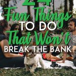 Fun things to do that don't cost money pinterest pin