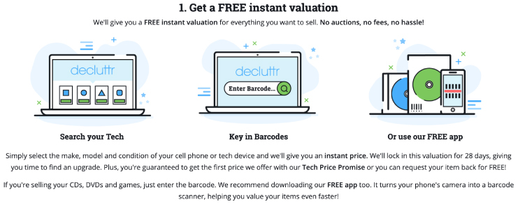 How Declutter's instant valuation works
