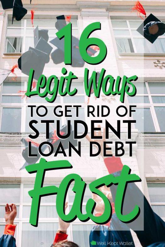 Get rid of student loan debt fast Pinterest pin