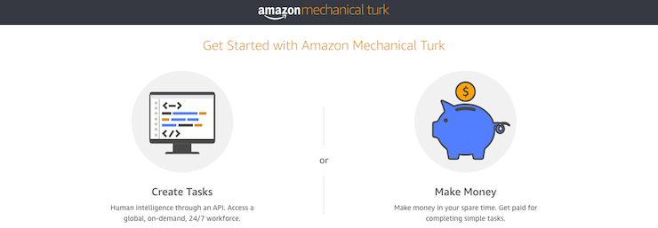 Amazon Mechanical Turk Getting Started Page