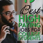 best high paying jobs for college students pinterest pin