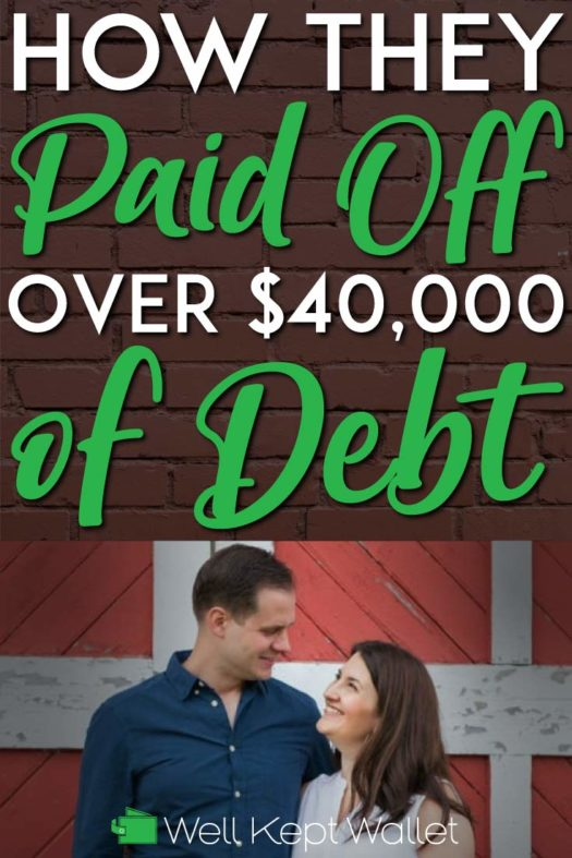 How they paid off 40k in debt pinterest pin