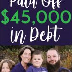 How this family paid off 45k pinterest pin