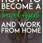 How to become a travel agent and work from home pinterest pin