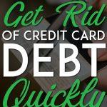 Get rid of credit card debt pinterest pin