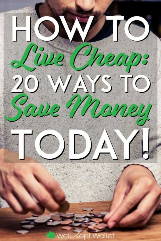 How to live cheap and save money pinterest pin