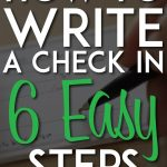 How to write a check in 6 easy steps pinterest pin