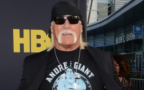 Hulk Hogan at a movie Premiere