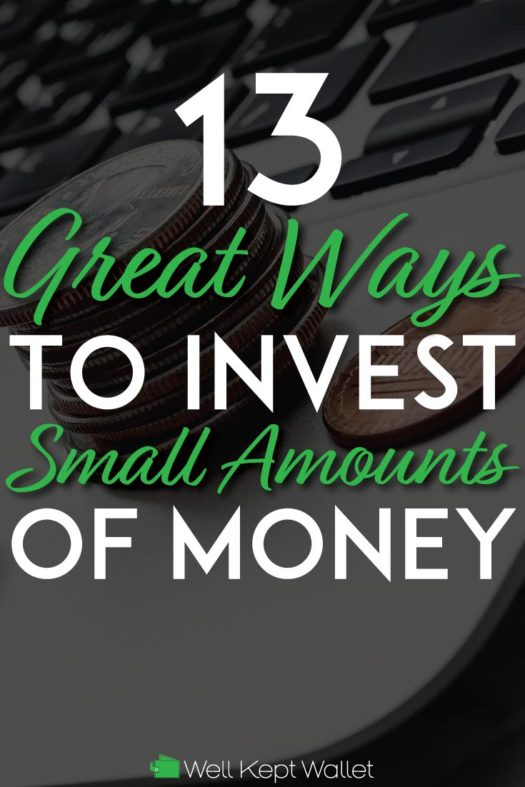 Great Ways to invest small amounts of money pinterest pin