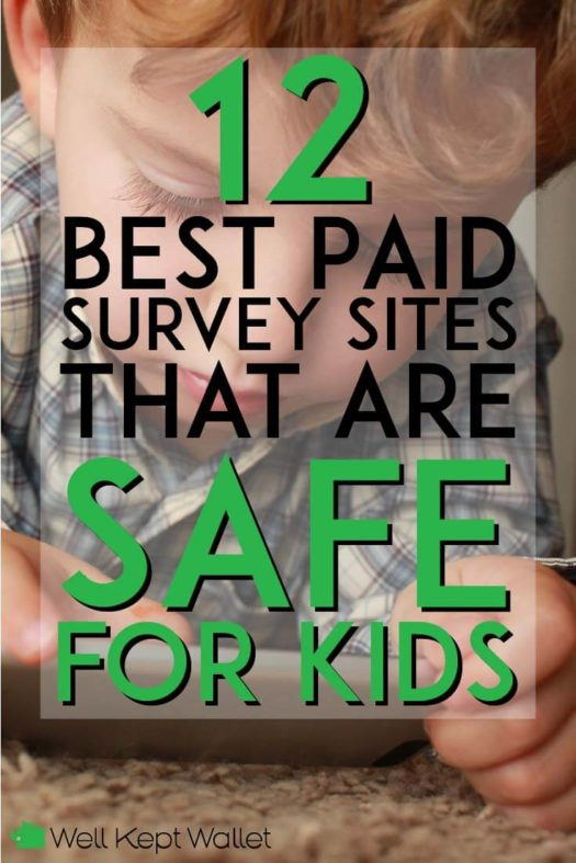 Best paid survey sites that are safe for kids pinterest pin