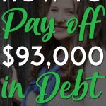Kim Anderson 93k in debt Pinterest Pin