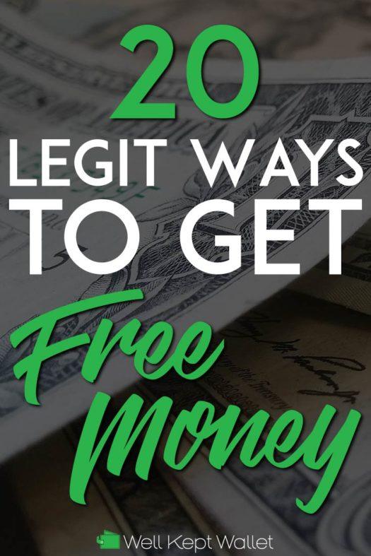 Legit ways to get free money pinterest pin