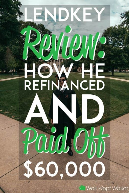Lendkey Review how he refinanced and paid off 60 k in debt pinterest pin