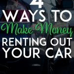 Make money renting out your car pinterest pin