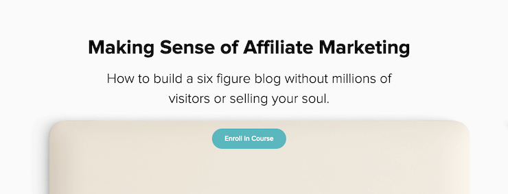 Making Sense of Affiliate Marketing course page