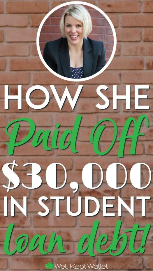 Millennial paid off 30k in debt pinterest pin