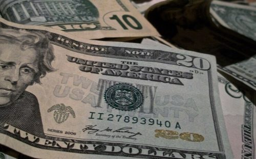 20 and 10 bills money to be loaned