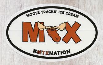 Moose Tracks Ice Cream Sticker