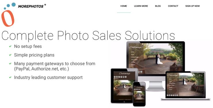Morephotos homepage screenshot