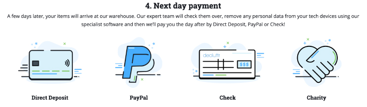 How Decluttr will pay for items