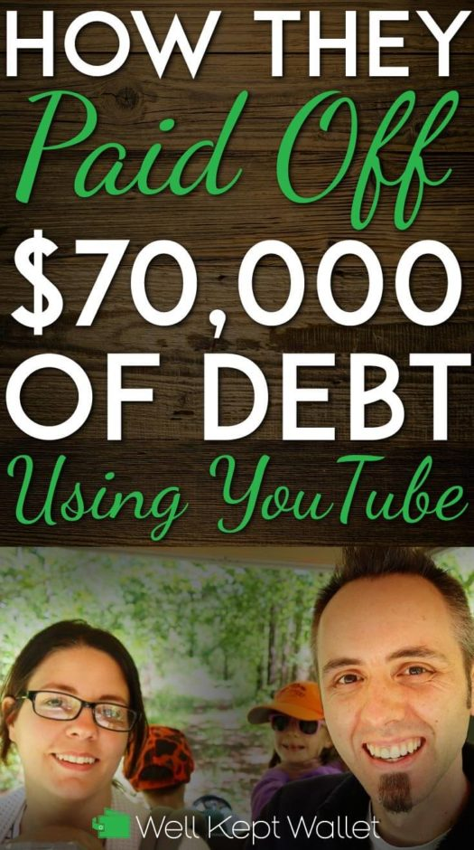 Paid off 70k using youtube Pinterest pin