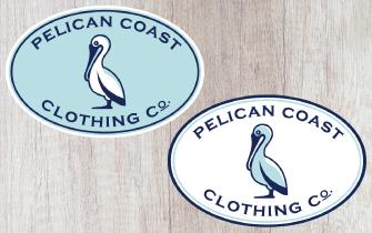 Pelican Coast sticker options