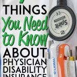 Physician Disability Insurance information Pinterest pin