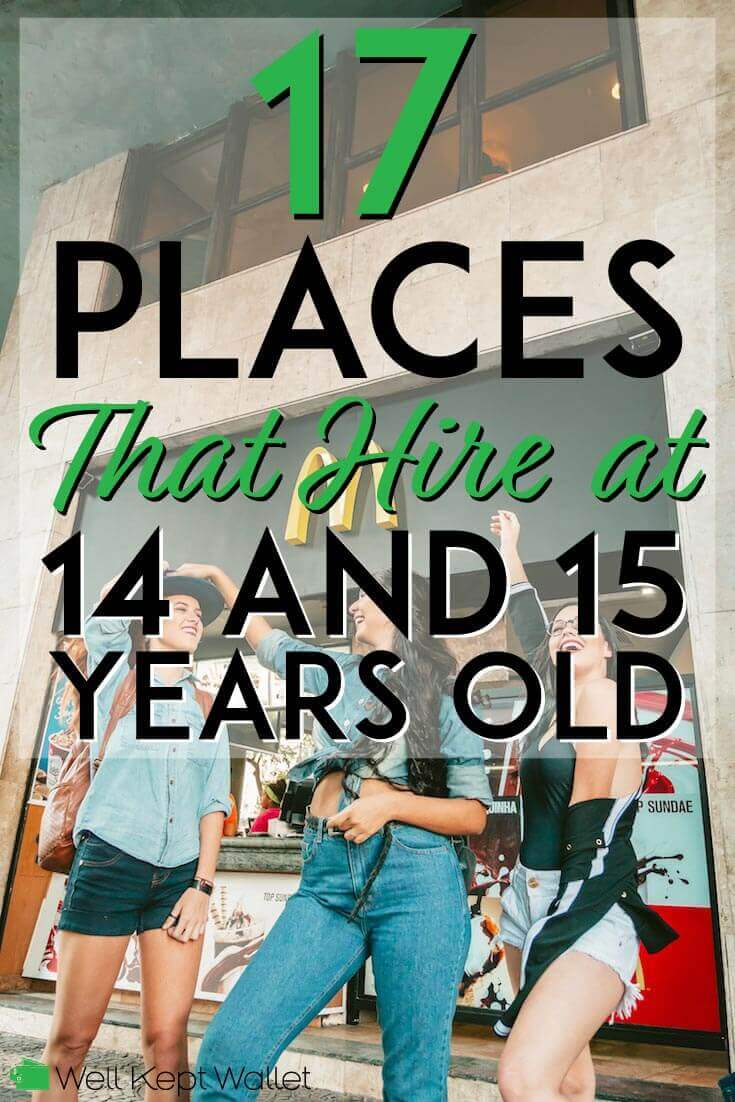 what places hire 15 year olds