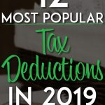 Most popular tax deductions pinterest pin