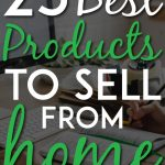 Products to sell from home pinterest pin