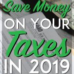 how to save money on your taxes pinterest pin