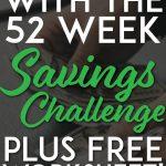 52 week savings challenge pinterest pin